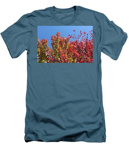 Men's T-Shirt (Slim Fit) featuring the photograph Looking Upward by Debbie Hart