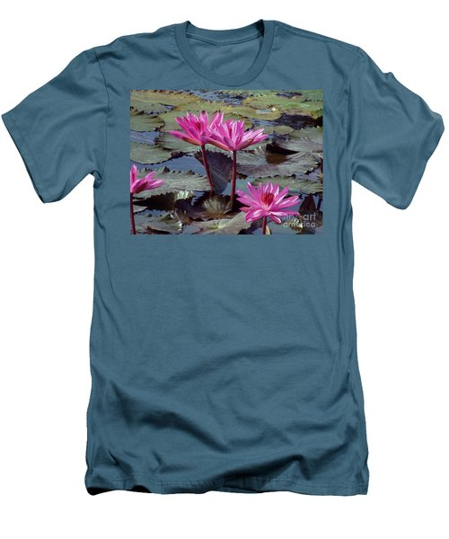 Men's T-Shirt (Slim Fit) featuring the photograph Lotus Flower by Sergey Lukashin