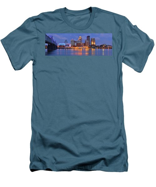 Louisville Skyline At Dusk Sunset Panorama Kentucky Men's T-Shirt (Athletic Fit)