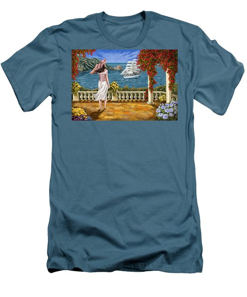 Men's T-Shirt (Slim Fit) featuring the painting Love Is Coming Home by Tim Gilliland