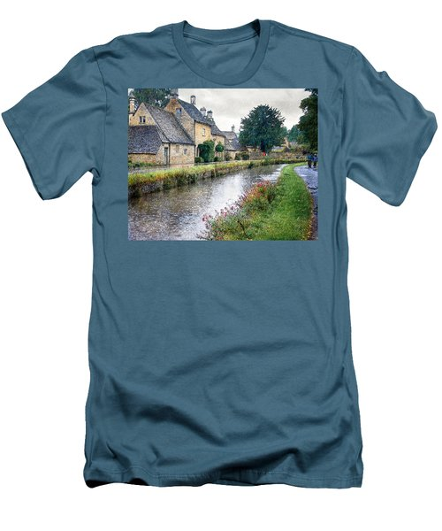 Lower Slaughter Men's T-Shirt (Slim Fit) by William Beuther