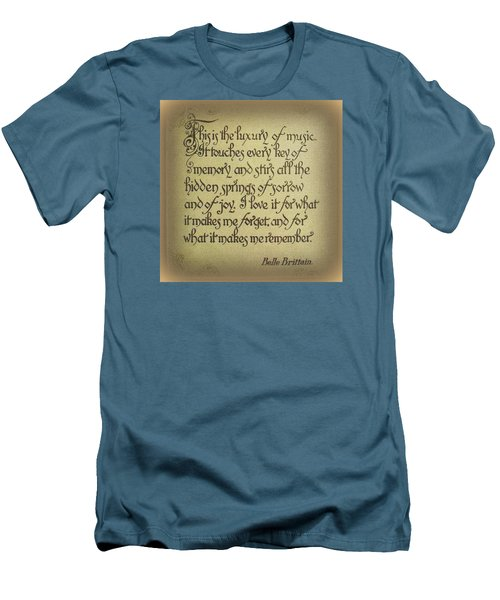 Men's T-Shirt (Slim Fit) featuring the photograph Luxury Of Music by Jodie Marie Anne Richardson Traugott          aka jm-ART
