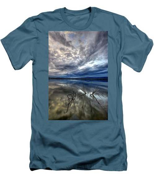 Magical Lake - Vertical Men's T-Shirt (Athletic Fit)