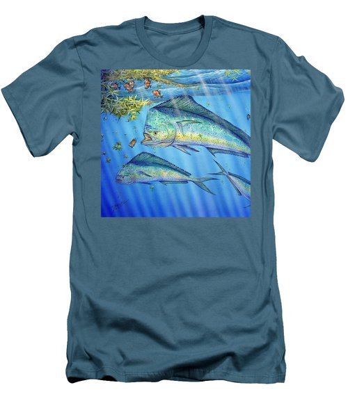 Mahi Mahi In Sargassum Men's T-Shirt (Athletic Fit)