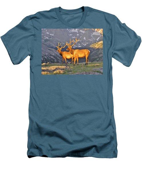 Men's T-Shirt (Slim Fit) featuring the photograph Majestic Elk by Diane Alexander