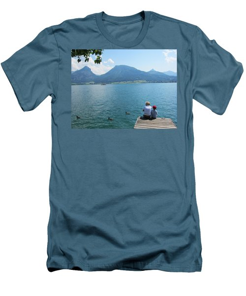 Mama And I Men's T-Shirt (Slim Fit) by Pema Hou
