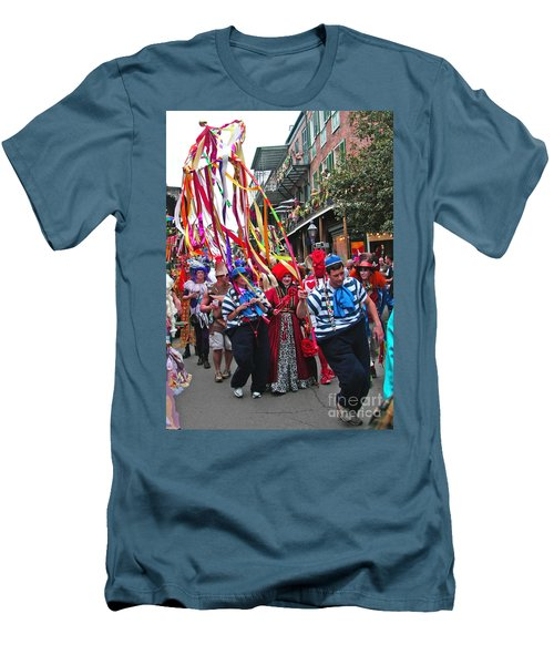 Men's T-Shirt (Slim Fit) featuring the photograph Mardi Gras In New Orleans by Luana K Perez