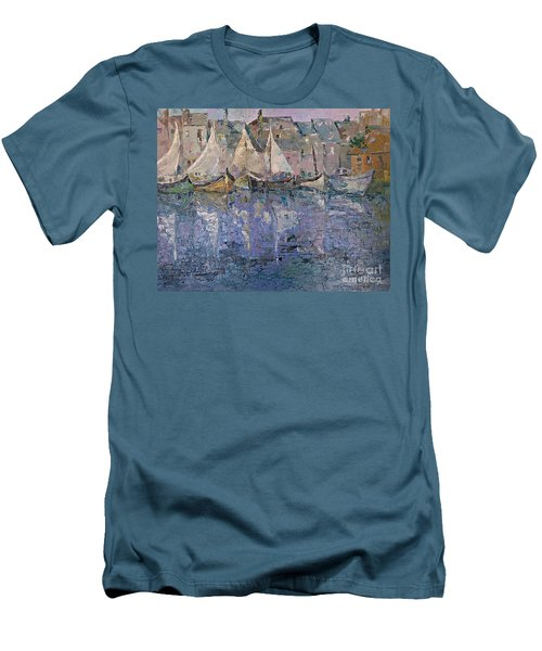 Men's T-Shirt (Slim Fit) featuring the painting Marina by AmaS Art