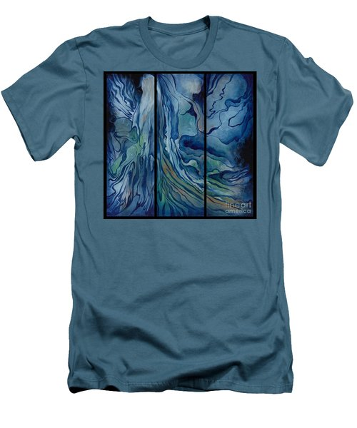 Marina Triptych Men's T-Shirt (Athletic Fit)