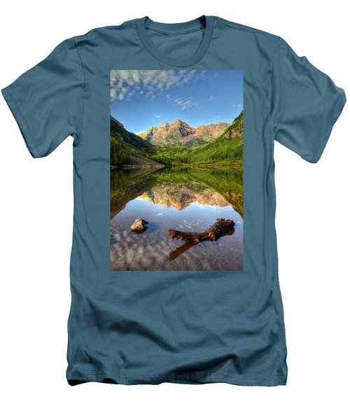Maroon Bells And Maroon Lake Men's T-Shirt (Slim Fit) by Ken Smith
