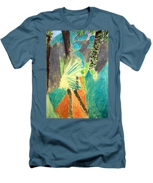 Matisse's Palm Leaf In Tangier Men's T-Shirt (Slim Fit)