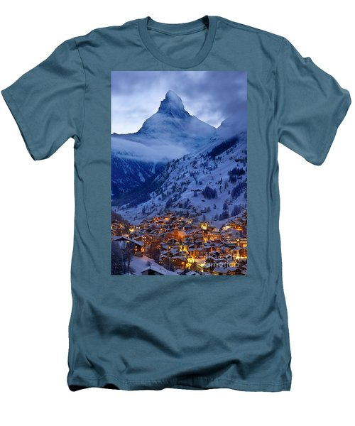 Matterhorn At Twilight Men's T-Shirt (Athletic Fit)