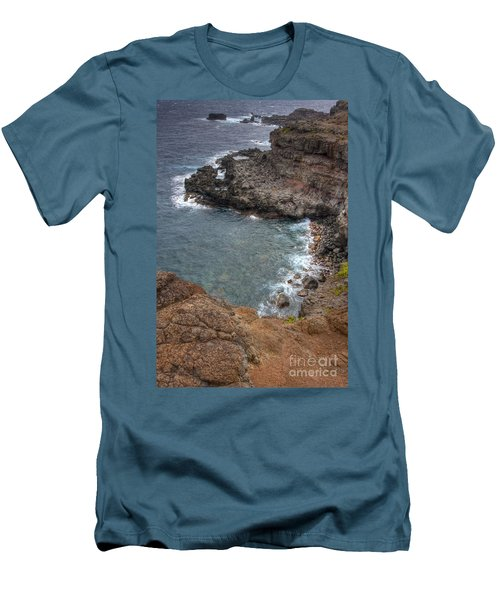 Men's T-Shirt (Slim Fit) featuring the photograph Maui Cliff by Bryan Keil