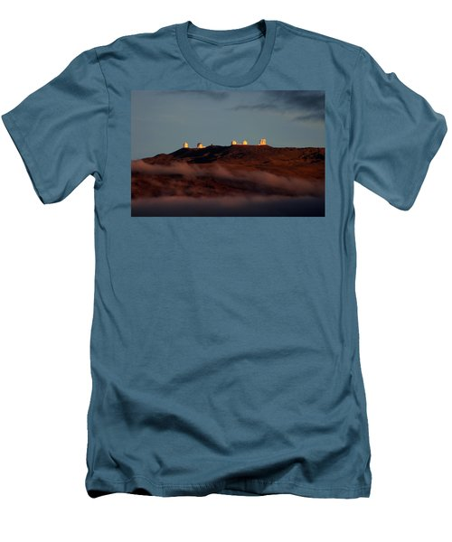 Mauna Kea Men's T-Shirt (Slim Fit) by Pamela Walton