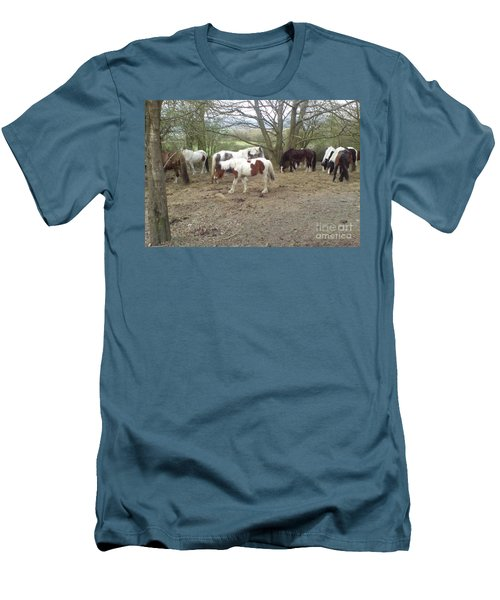 May Hill Ponies 2 Men's T-Shirt (Athletic Fit)