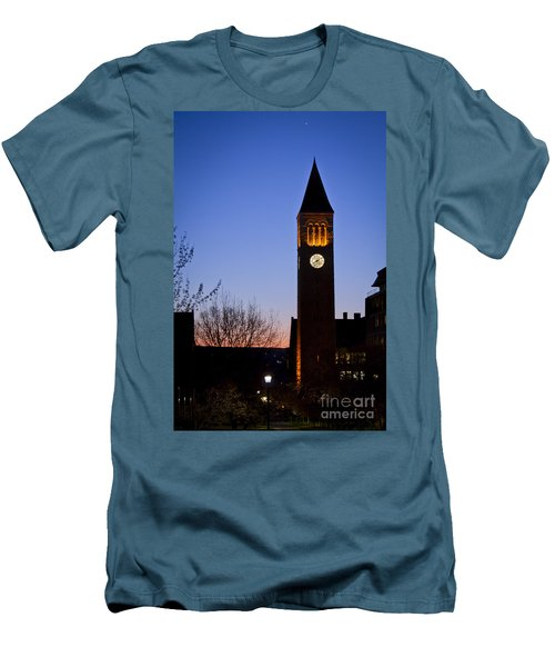 Mcgraw Tower Cornell University Men's T-Shirt (Athletic Fit)