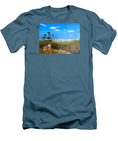 Mclarren Vale Vine Yards Men's T-Shirt (Slim Fit) by Pamela  Meredith
