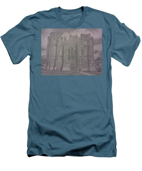 Medieval Cathedral Men's T-Shirt (Slim Fit) by Christy Saunders Church