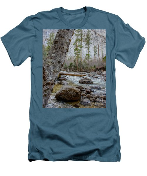 Merced River From Happy Isles Men's T-Shirt (Athletic Fit)