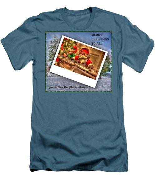 Merry Christmas Men's T-Shirt (Slim Fit) by Dan Stone