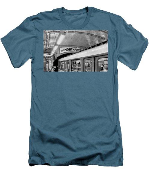 Men's T-Shirt (Slim Fit) featuring the photograph Metro At Montmartre. Paris by Jennie Breeze