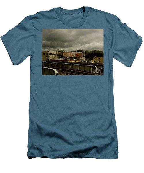 Men's T-Shirt (Slim Fit) featuring the photograph Metropolitan Transit by Miriam Danar