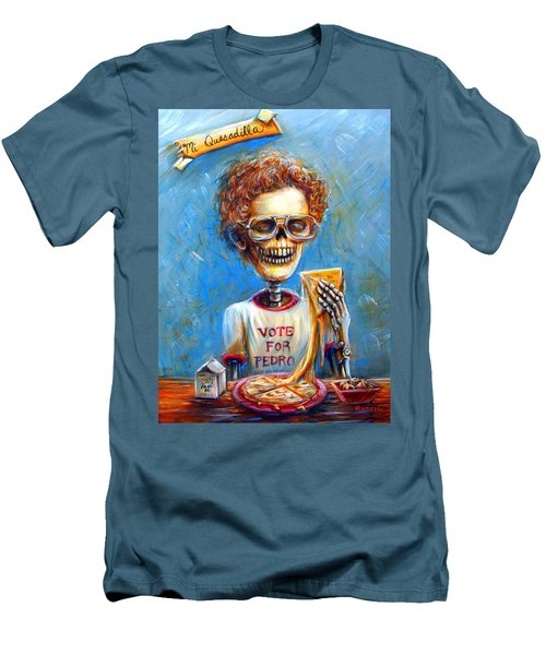 Men's T-Shirt (Slim Fit) featuring the painting Mi Quesadilla by Heather Calderon
