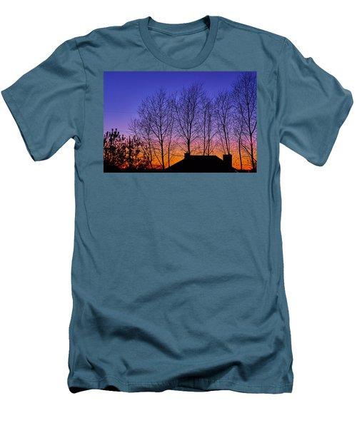 Miami Sky Men's T-Shirt (Slim Fit) by Tgchan
