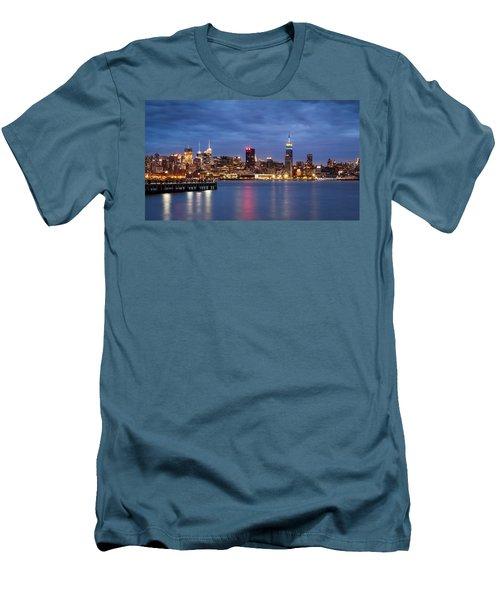 Men's T-Shirt (Slim Fit) featuring the photograph Midtown Manhattan by Mihai Andritoiu