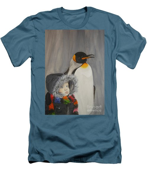 Mika And Penguin Men's T-Shirt (Athletic Fit)