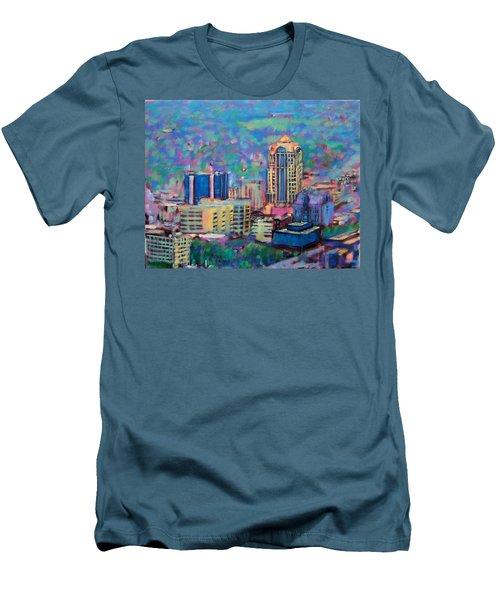 Mill Mountain View Men's T-Shirt (Slim Fit) by Bonnie Mason