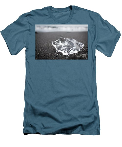 Men's T-Shirt (Slim Fit) featuring the photograph Millennium Ice by Peta Thames