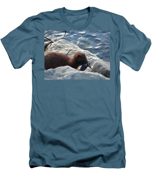 Mink With A Round Goby Men's T-Shirt (Slim Fit) by Randy J Heath