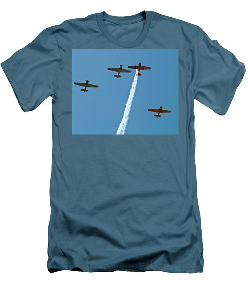 Men's T-Shirt (Slim Fit) featuring the photograph Missing Man Flyover by Allen Sheffield