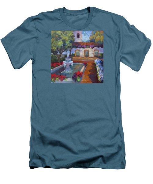Mission Via Dolorosa Men's T-Shirt (Slim Fit) by Diane McClary