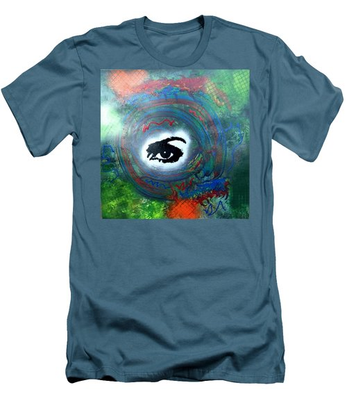 Mixed Media Abstract Post Modern Art By Alfredo Garcia Eye See You Men's T-Shirt (Athletic Fit)