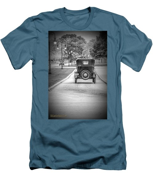 Model T Ford Down The Road Men's T-Shirt (Athletic Fit)