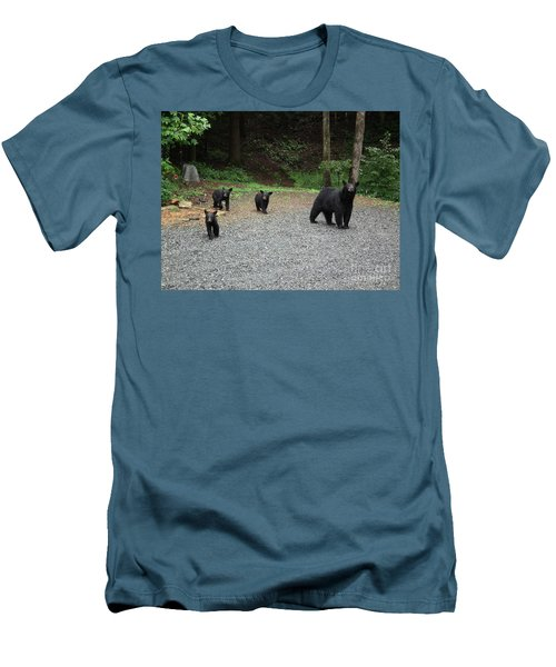 Men's T-Shirt (Slim Fit) featuring the photograph Momma And Three Bears by Jan Dappen