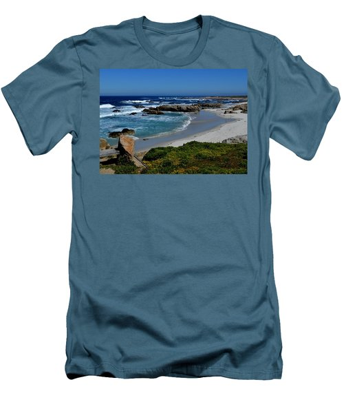 Men's T-Shirt (Slim Fit) featuring the photograph Monterey-1 by Dean Ferreira