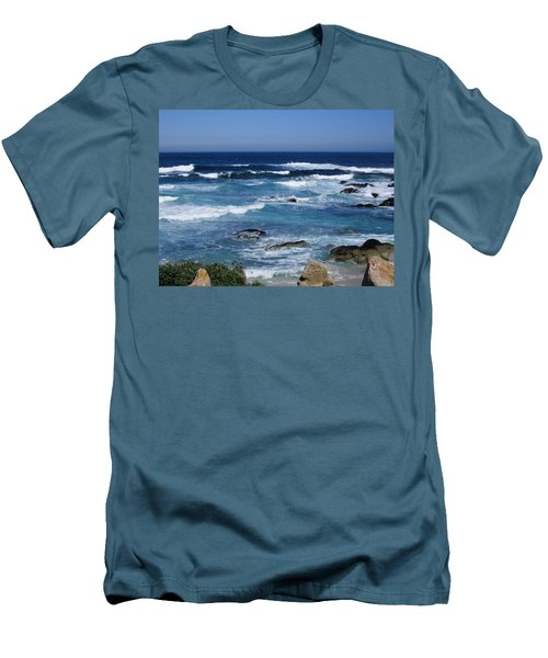 Men's T-Shirt (Slim Fit) featuring the photograph Monterey-9 by Dean Ferreira