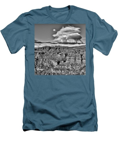 Men's T-Shirt (Slim Fit) featuring the photograph Monument Valley 5 Bw by Ron White