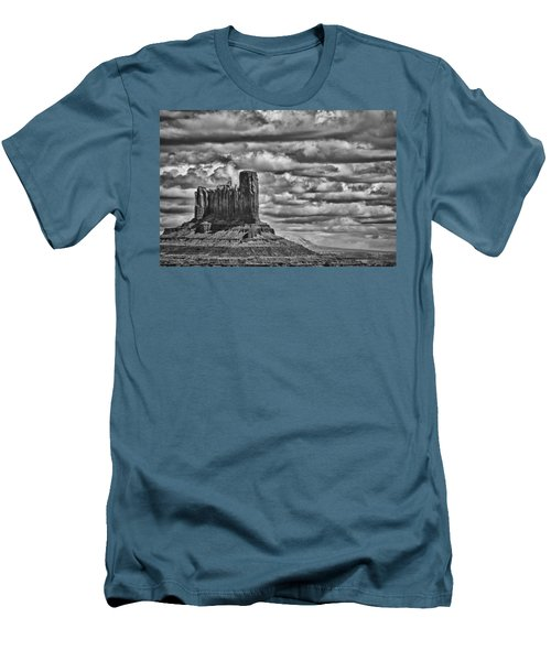 Men's T-Shirt (Slim Fit) featuring the photograph Monument Valley 6 Bw by Ron White
