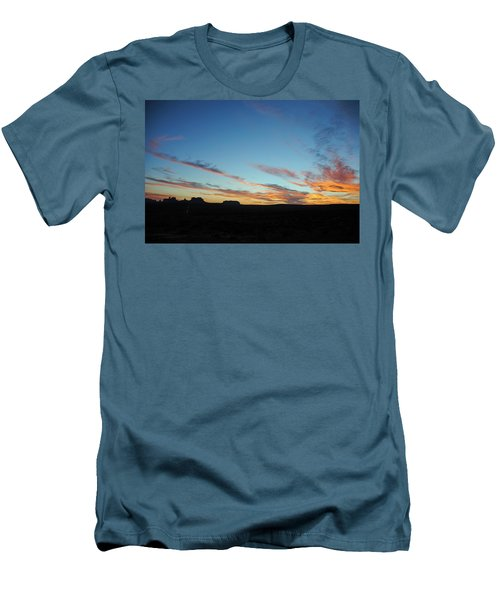 Monument Valley Sunset 2 Men's T-Shirt (Slim Fit) by Jeff Brunton