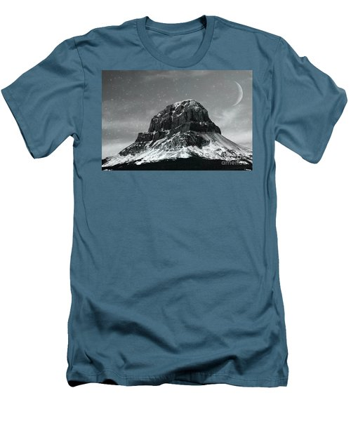 Moon Over Crowsnest Men's T-Shirt (Athletic Fit)
