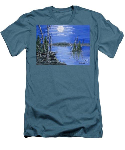 Moonlight Mist Men's T-Shirt (Slim Fit) by Brenda Brown