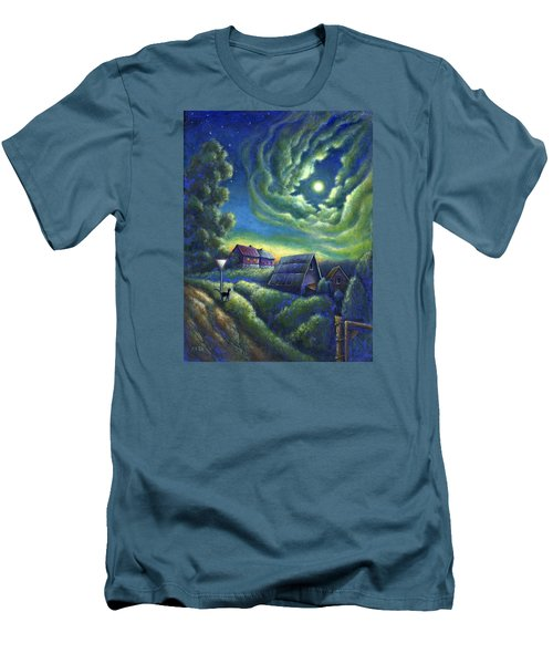 Moonlit Dreams Come True Men's T-Shirt (Slim Fit) by Retta Stephenson
