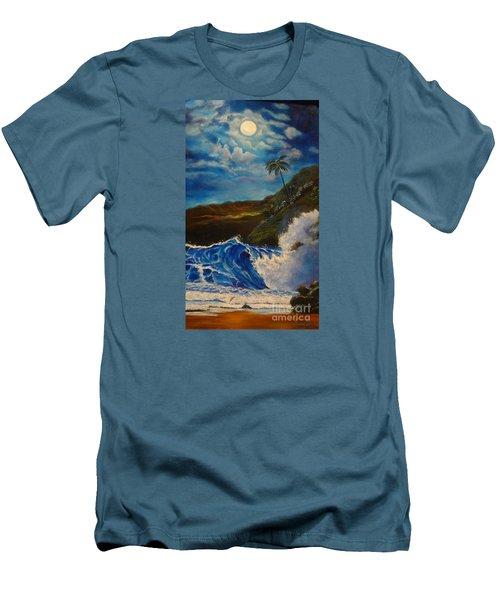 Moonlit Wave 11 Men's T-Shirt (Slim Fit) by Jenny Lee
