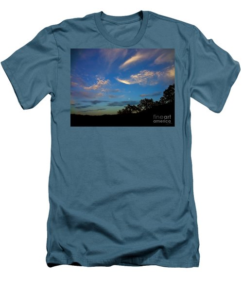 Moonrise Hill Men's T-Shirt (Slim Fit) by Gem S Visionary