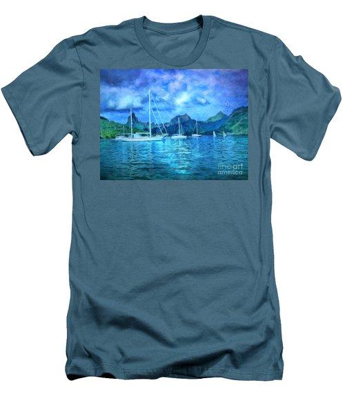 Moonrise In Mo'orea Men's T-Shirt (Athletic Fit)