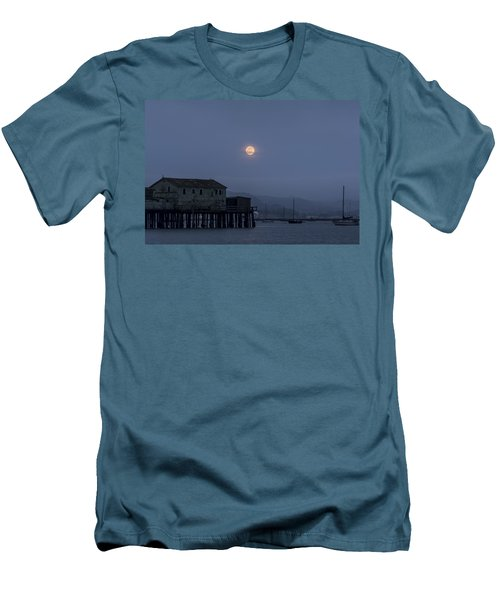 Moonrise Over The Harbor Men's T-Shirt (Athletic Fit)